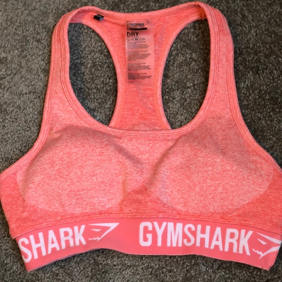 40b089878c Gymshark Tops - Gymshark Flex Sports Bra- Peach Coral